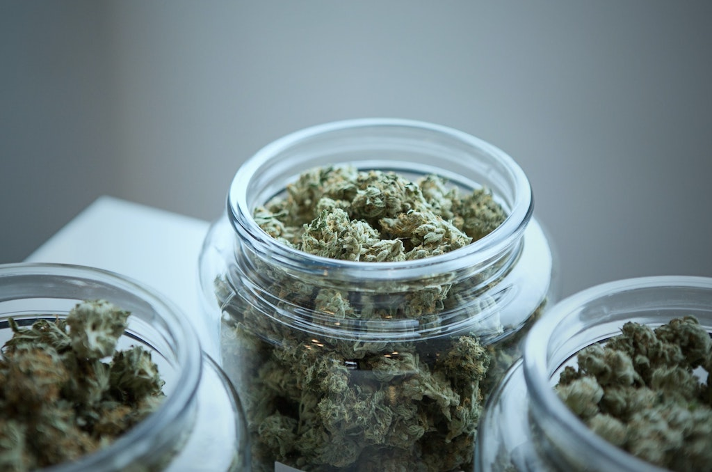 cannabis weed in glass jar, how to find cannabis assisted therapy near me
