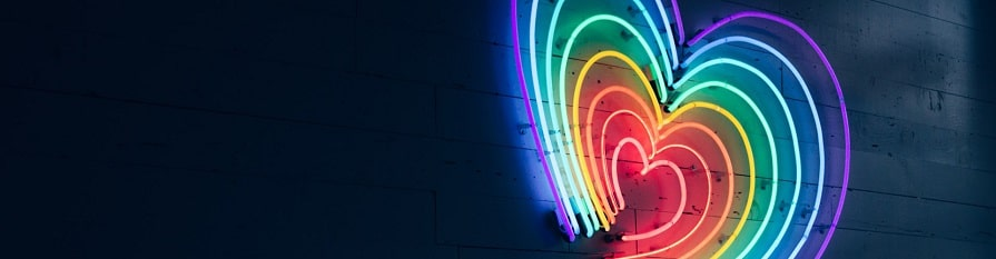 rainbow heart neon light, how to find the right psychedelic guide or tripsitter