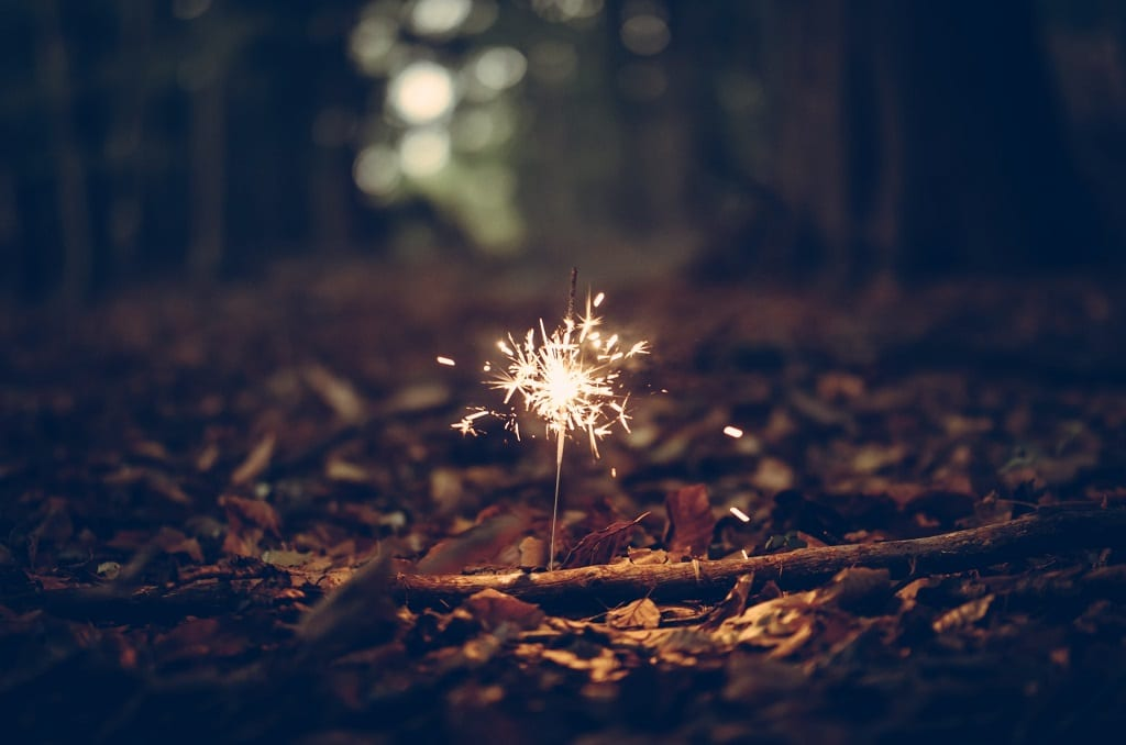 sparkler in forest, individual psychedelic experiences