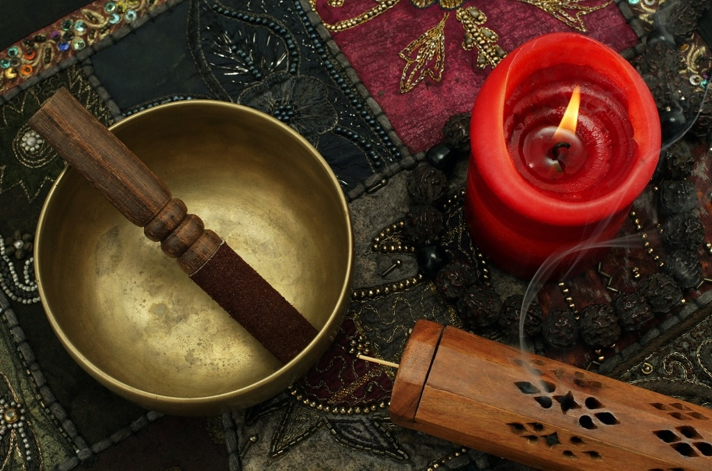 singing bowl candle and incense tripping as a tool for self actualization