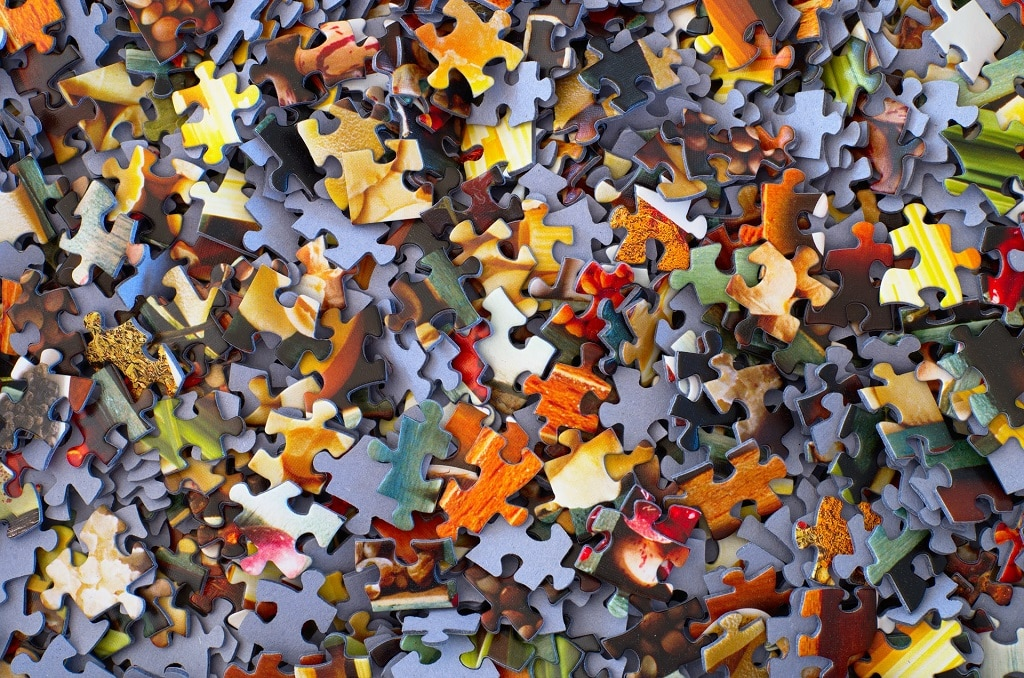 colorful puzzle pieces, psychedelic clinical trial eligibility