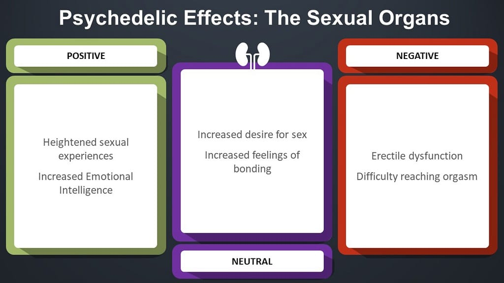 infographic on psychedelic effects in the sexual organs