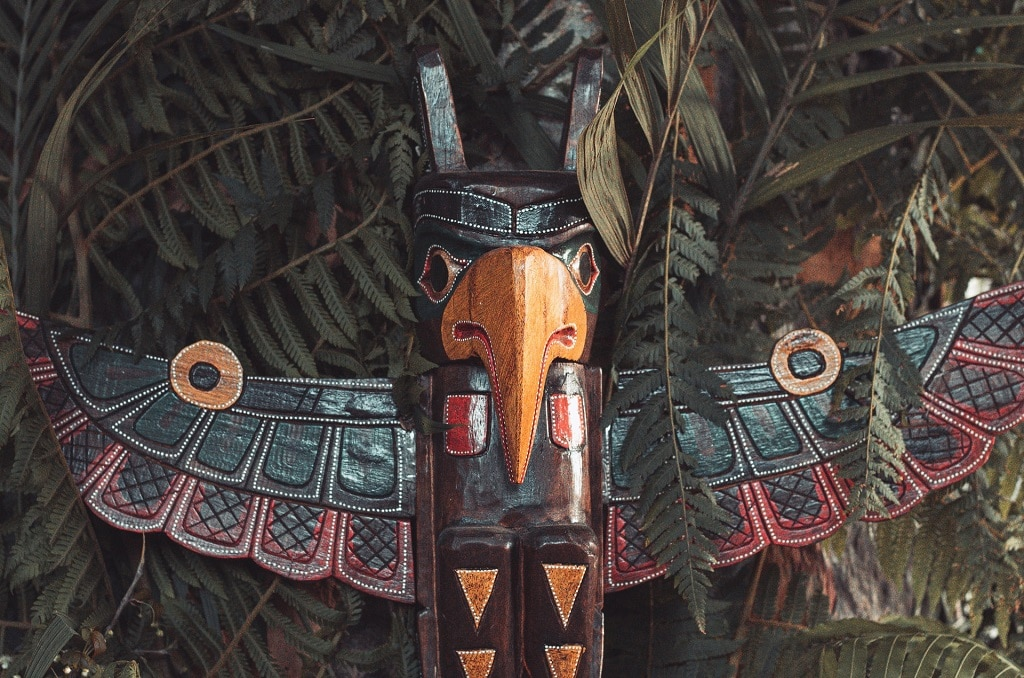 hawk totem statue, ayahuasca history and therapeutic benefits