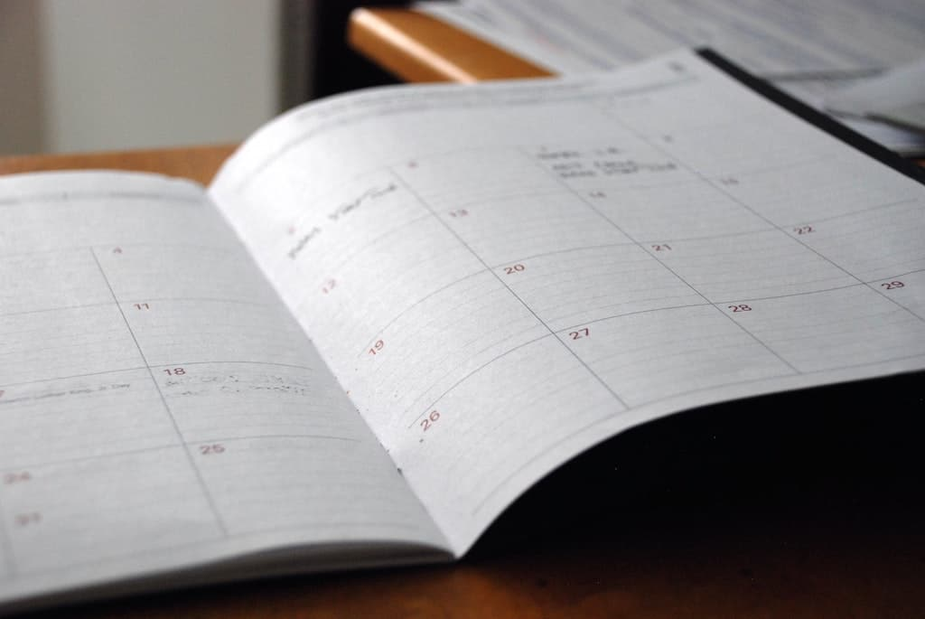 monthly calendar open on desk, 5 reasons you might not trip on high doses of psychedelics