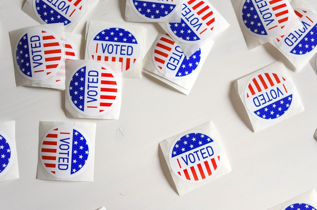 voting stickers, psychedelic legalization