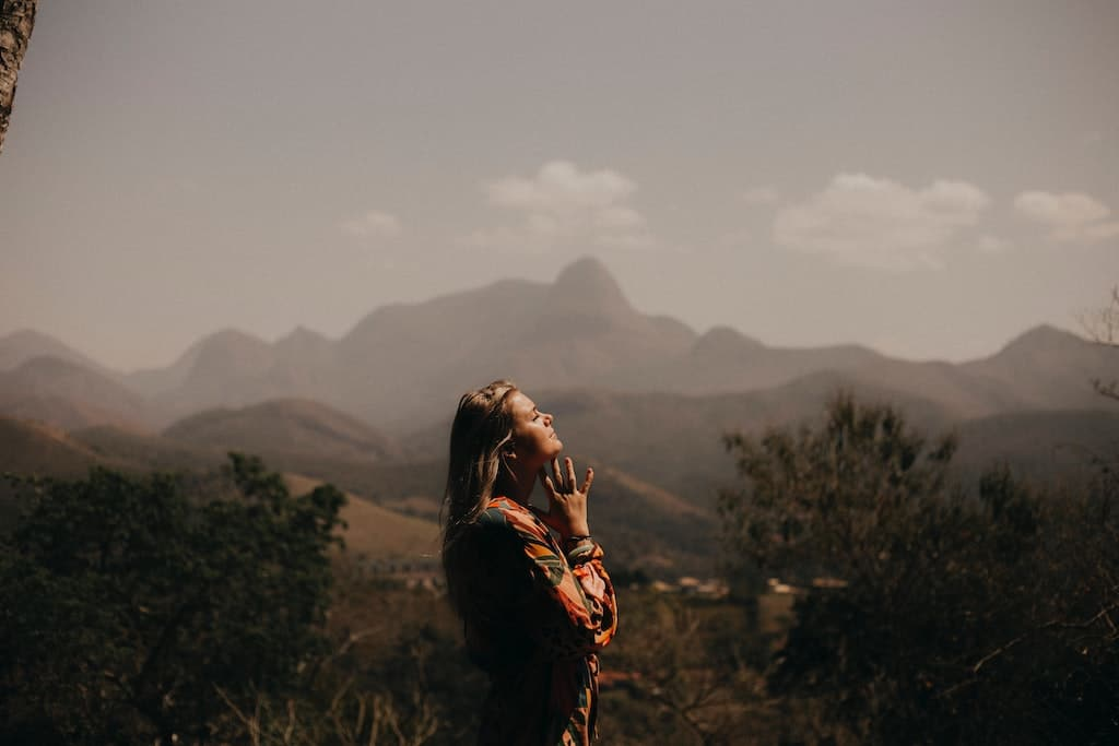 woman in nature, how psychedelics can help treat anxiety