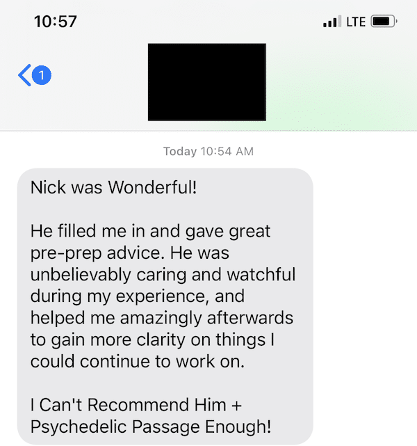 Psychedelic Passage Testimonial