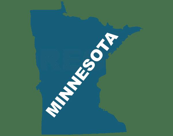 Minnesota state outline, trip sitting in minnesota
