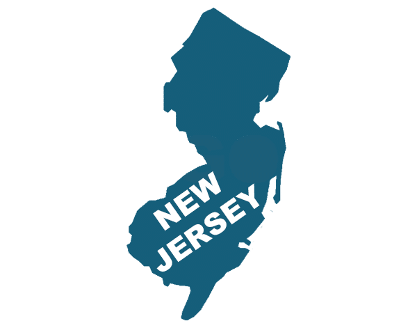 New Jersey state outline, trip sitting in new jersey
