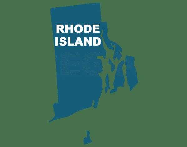 Rhode Island state outline, trip sitting in Rhode Island