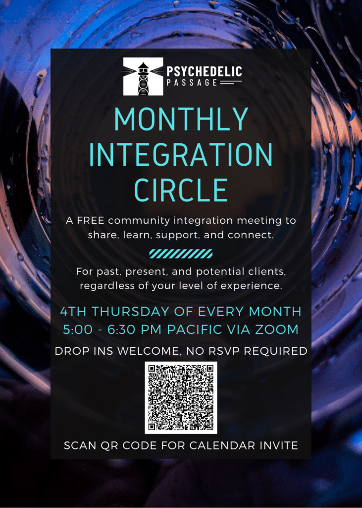 Psychedelic Passage Monthly Integration Circle Flyer